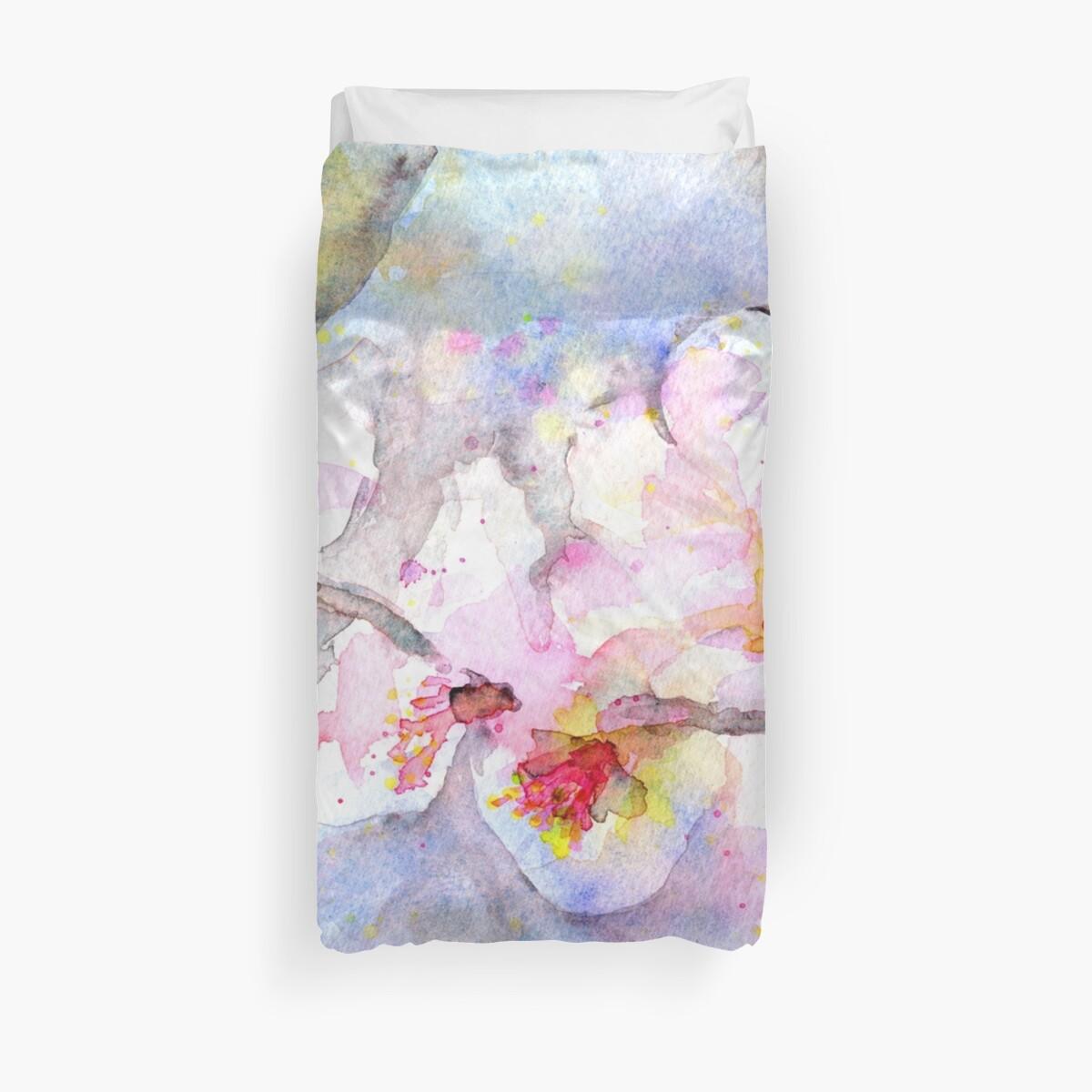 Kirschblüte im Aquarell von AuroraLandgraf