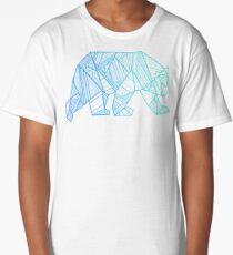 Geometric Bear T Shirt  - Geometrical Bear Shirt - Camping and Hiking Shirt - Mountains T-Shirt - Wilderness Outdoors Shirt Long T-Shirt