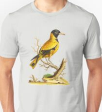 Black Headed Indian Icterus - Bird HD vintage image from encyclopedia number 11 T-Shirt