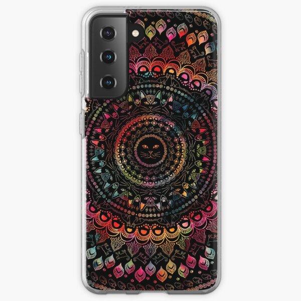 Rainbow Kitty Cat Mandala Samsung Galaxy Soft Case