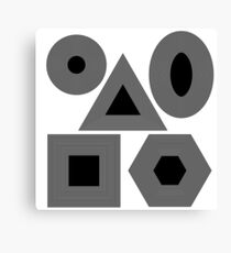 Set of Different Geometric Shapes Isolated on White Background Canvas Print