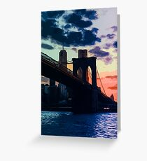 Sunsets of New York Greeting Card