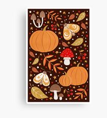 Autumn elements Canvas Print