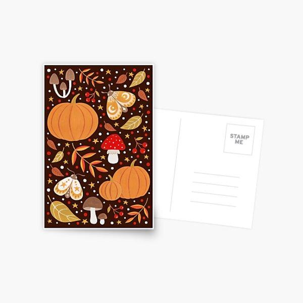 Autumn elements Postcard