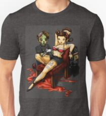 The zombie and the pin-up gal T-Shirt
