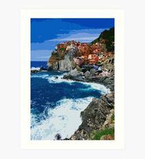 Italy, beautiful Manarola Art Print