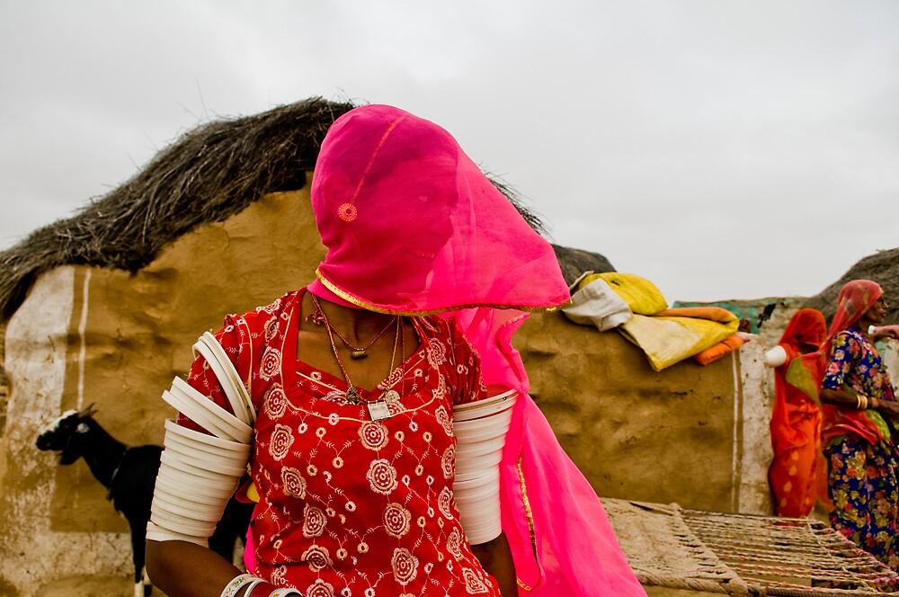 Village near Jaisalmer by niklens