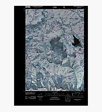 USGS TOPO Map Idaho ID Thompson Creek 20110114 TM Inverted Photographic Print