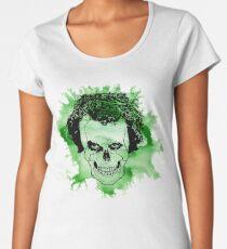 Watercolour Joker skull  Women's Premium T-Shirt