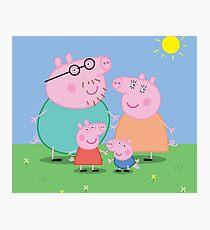 Peppa Pig Family Photographic Print