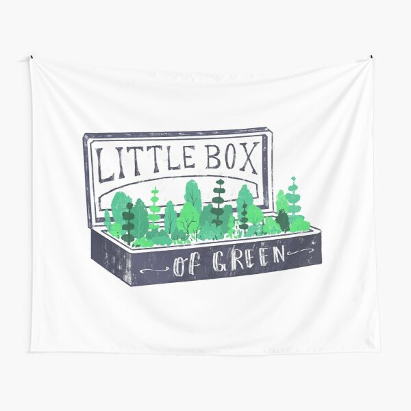 Lil Box of Green Tapestry