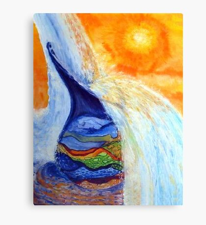 Watercan Flow Over Canvas Print