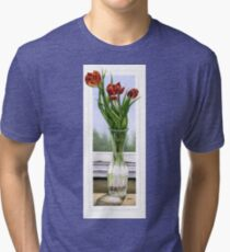 """Three Tulips"" Tri-blend T-Shirt"