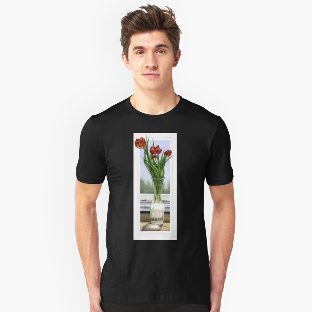 """Three Tulips"" Unisex T-Shirt Front"