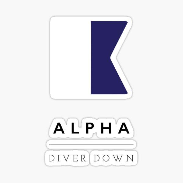 Nautical Flag: Alpha Sticker