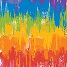 Painted rainbow sunset by Amanda Bussio