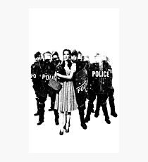 Dorothy and The Riot Police Photographic Print