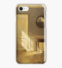 A Girl Reading In An Interior by Peter Vilhelm Ilsted iPhone Case/Skin