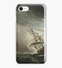 A Ship on the high Seas caught by a Squall, known as 'The Gust' by Willem van de Velde II iPhone Case/Skin