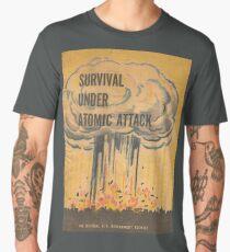 Survival, Atomic, Atomic Bomb, Attack, Poster, 1950 Men's Premium T-Shirt