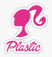 Plastic Barbie Sticker