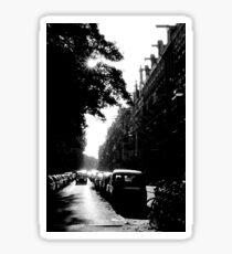 Street in Black and White Sticker