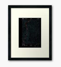 USGS TOPO Map Idaho ID Henley Basin 20110831 TM Inverted Framed Print