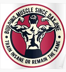 Building Muscle Poster
