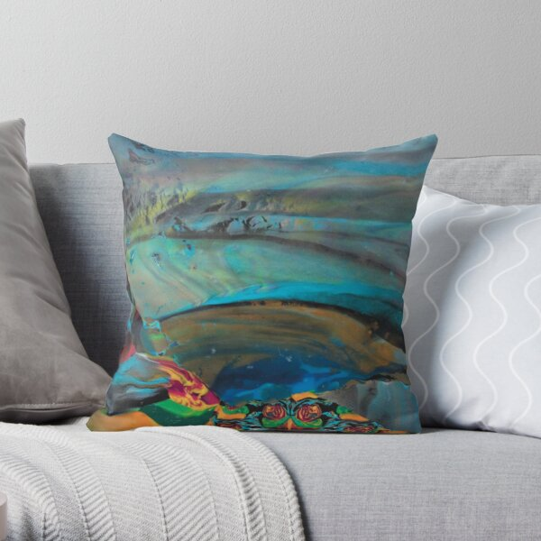 Blue moments Throw Pillow