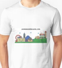France, Lyon City Skyline Design T-Shirt
