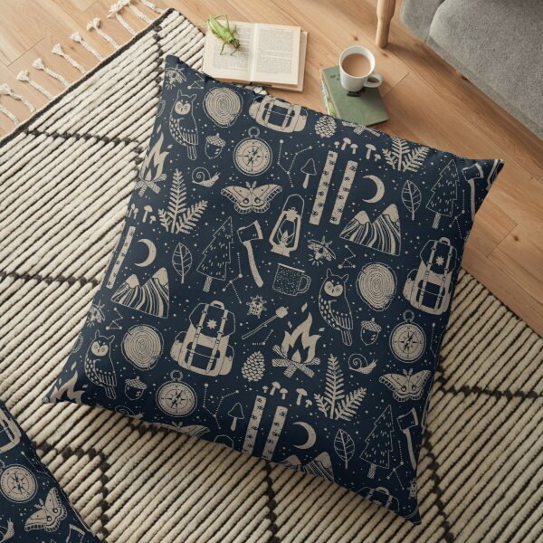 Into the Woods Floor Pillow