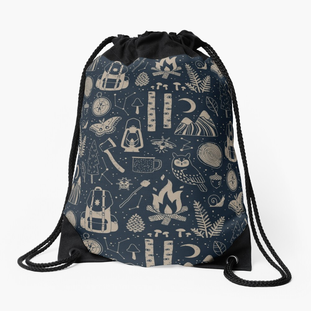 Into the Woods Drawstring Bag