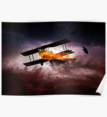 AIRPLANE ON FIRE Poster