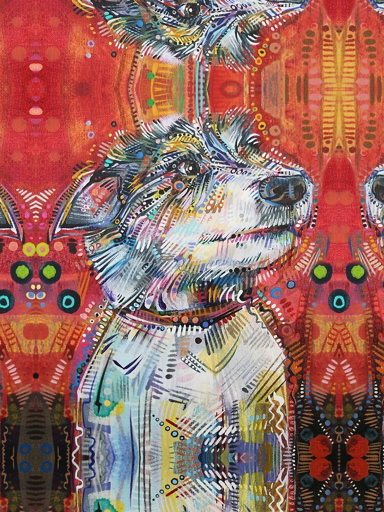 Jack Russell terrier mix painting - 2013 by gwennpaints