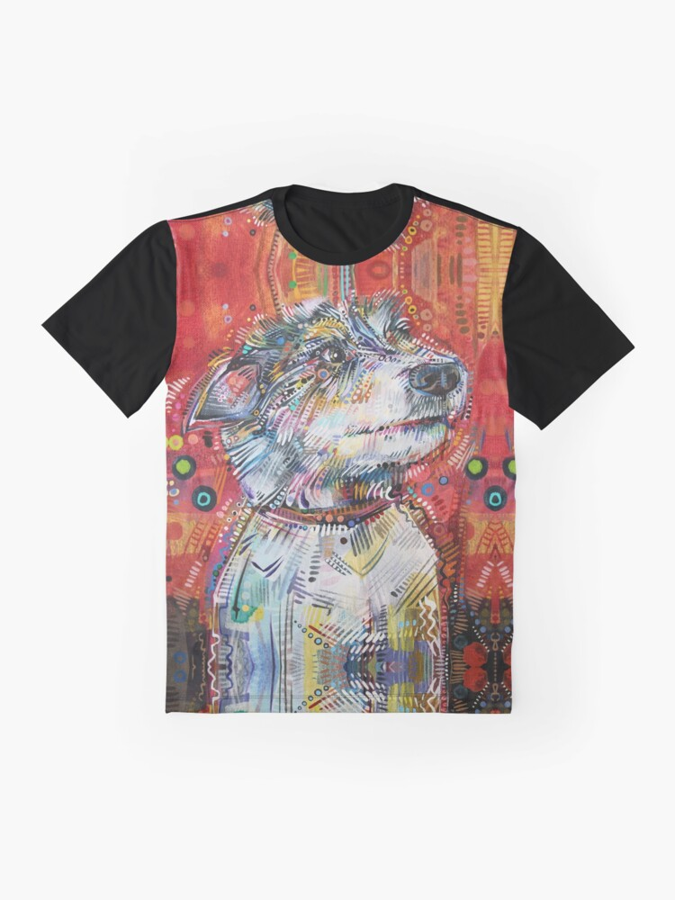 Alternate view of Jack Russell terrier mix painting - 2013 Graphic T-Shirt