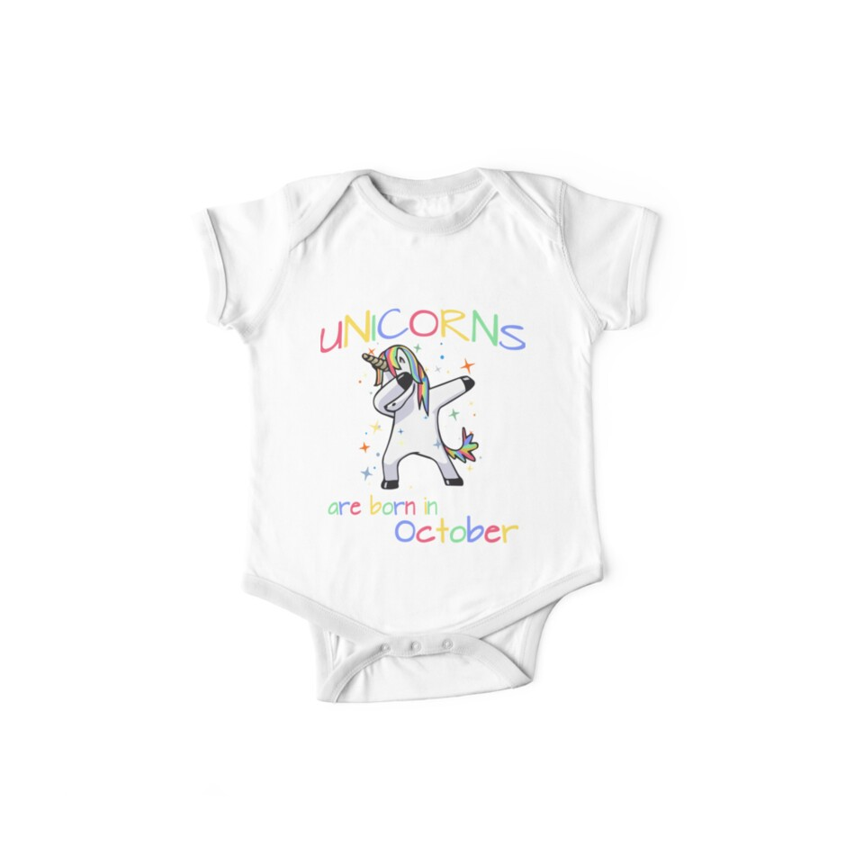Dabbing Unicorns Are Born In October Birthday Shirts More