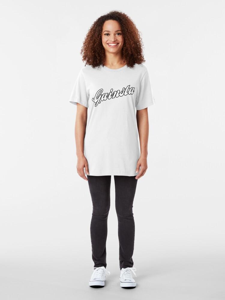 Alternate view of GAINSTA - White Slim Fit T-Shirt