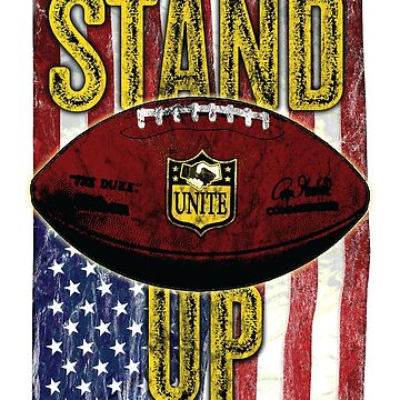 NFL American Flag Stand Up Unite by pcisbs