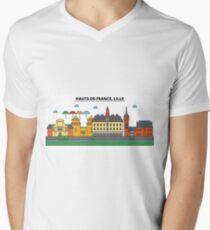 France, Lille City Skyline Design T-Shirt