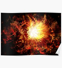Distorted Sunburst Poster
