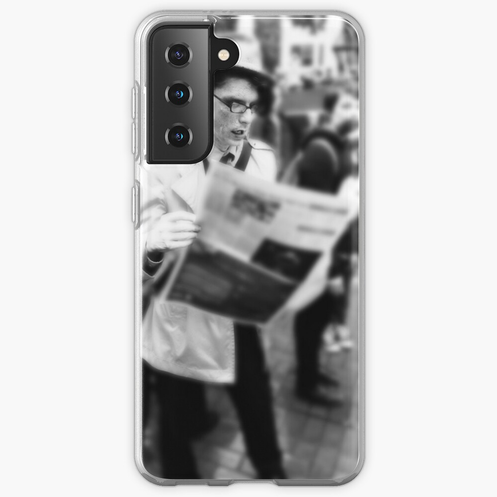 Newspaper Zombie and the City Samsung Galaxy Phone Case