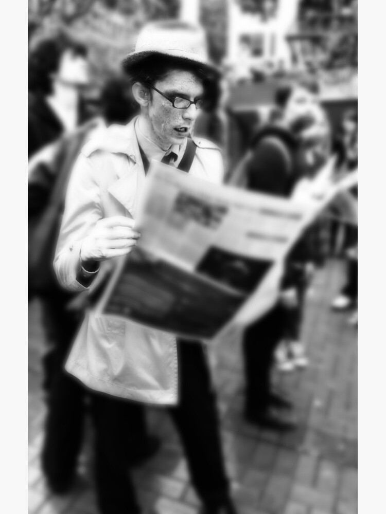 Newspaper Zombie and the City by lehudgins