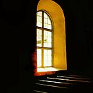 Old Viking Church Window by Barry W  King