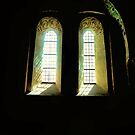 Old Viking Church Window - 2 by Barry W  King