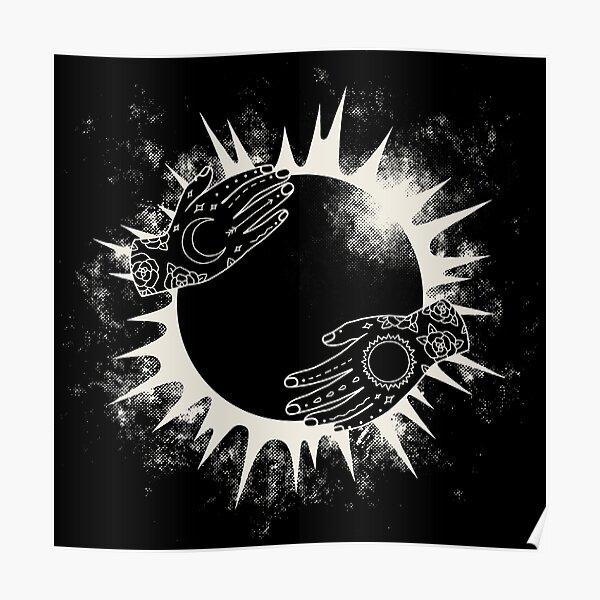 Vintage effect moonlight light Sun moon back black Light Switch Plate Cover