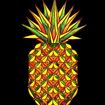 Geometric Pineapple by dotsofpaint