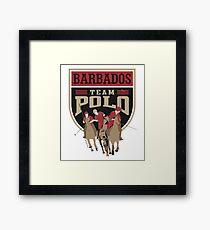 Team Polo Barbados Framed Print
