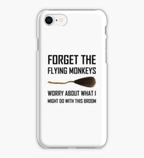 Flying Monkeys Witch Broom iPhone Case/Skin