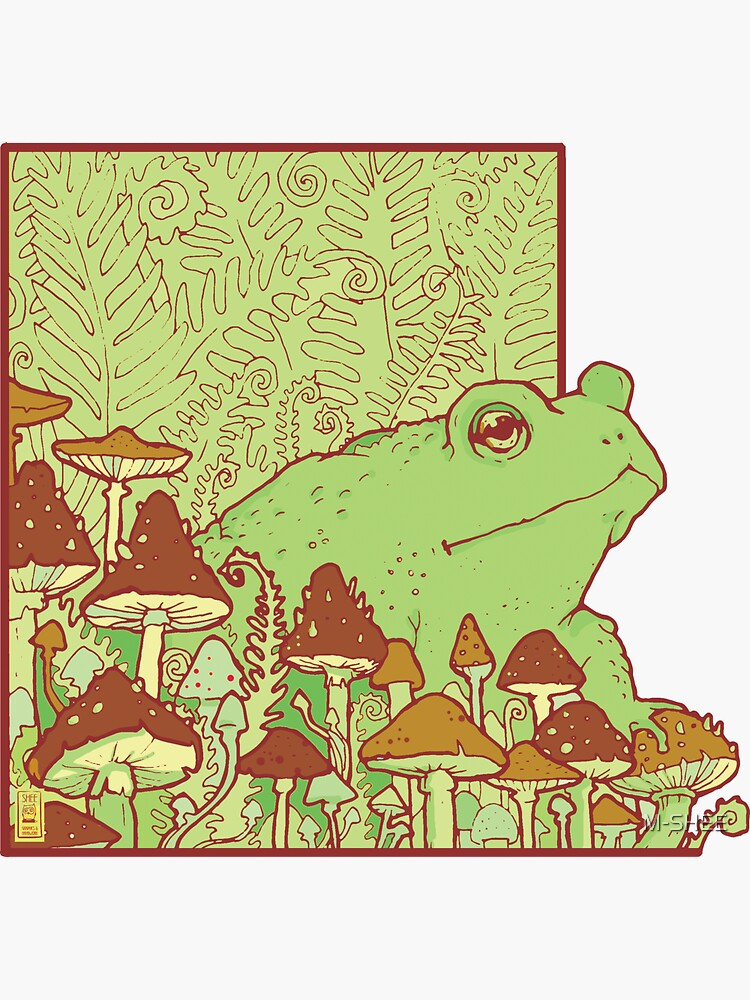 Forest toad & mushrooms by M-SHEE
