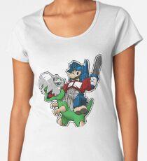 Optimus Mario Camiseta premium de cuello ancho